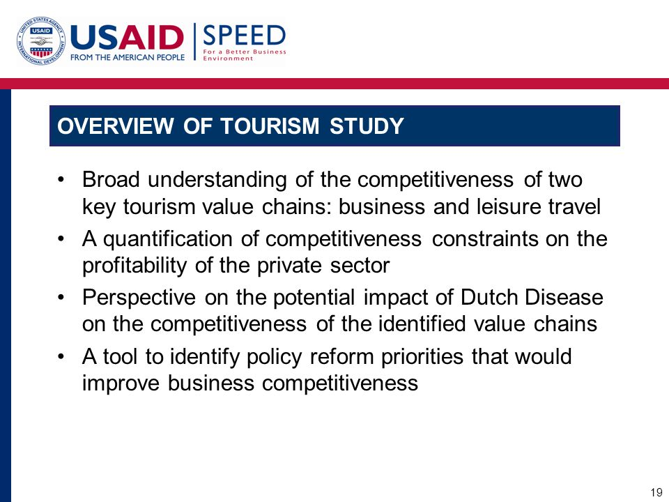 Overview of Tourism Study