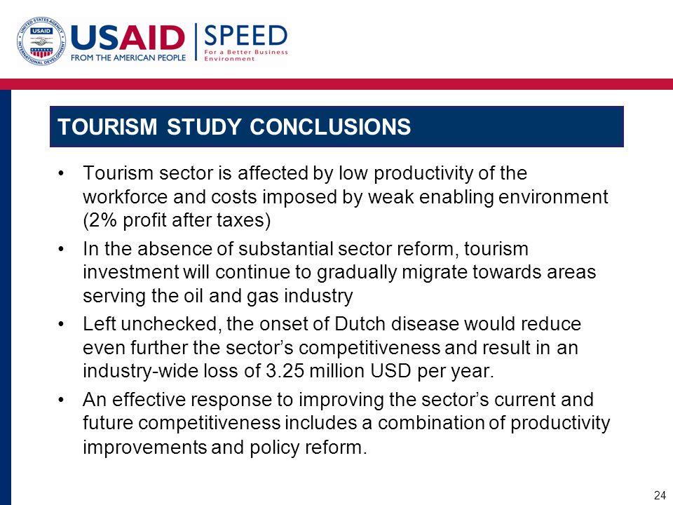Tourism Study Conclusions