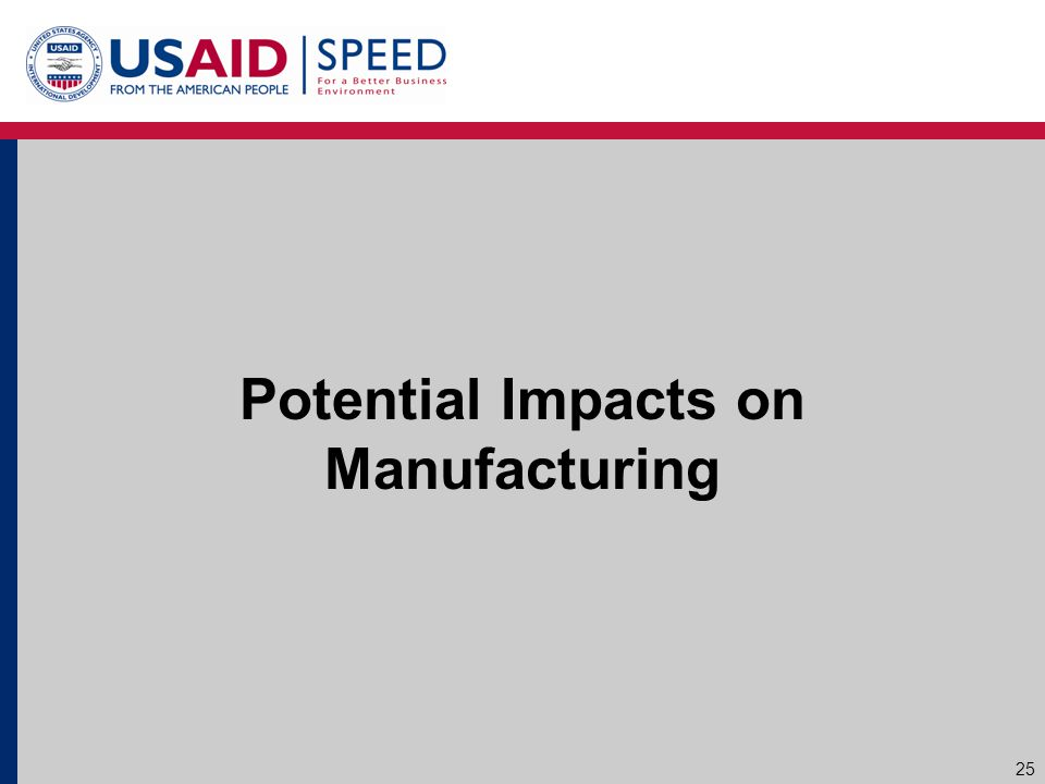 Potential Impacts on Manufacturing