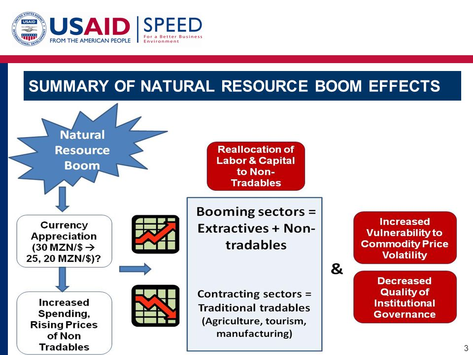 SUMMARY OF NATURAL RESOURCE BOOM EFFECTS