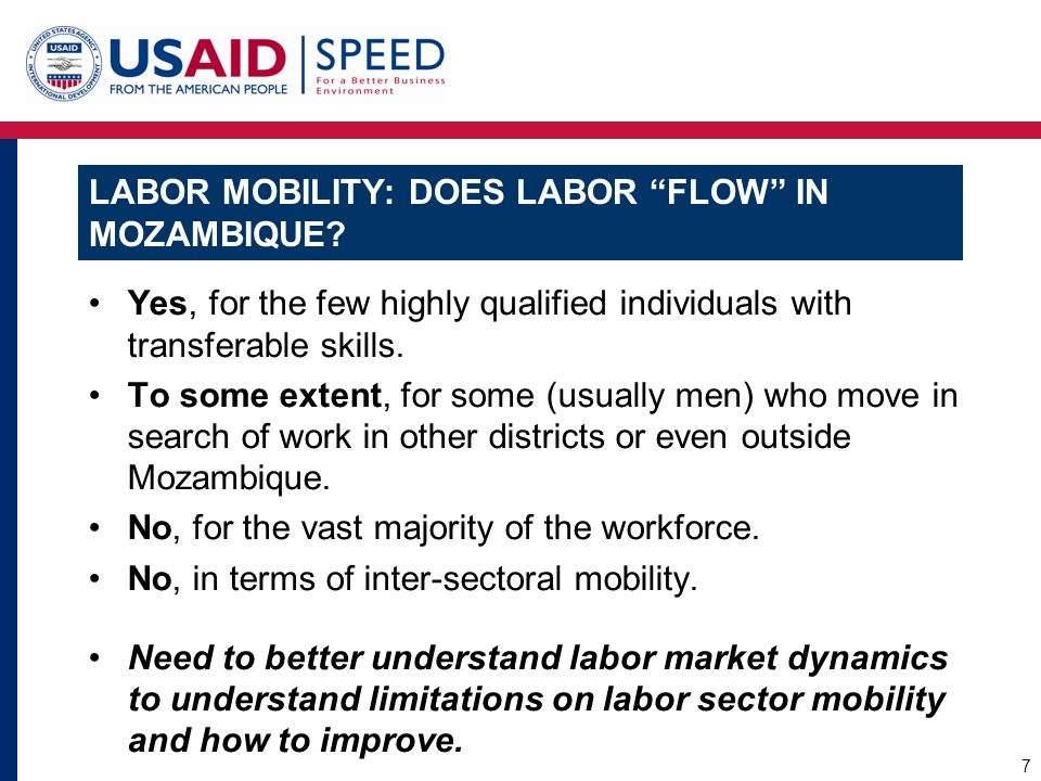 LABOR MOBILITY: DOES LABOR FLOW IN MOZAMBIQUE