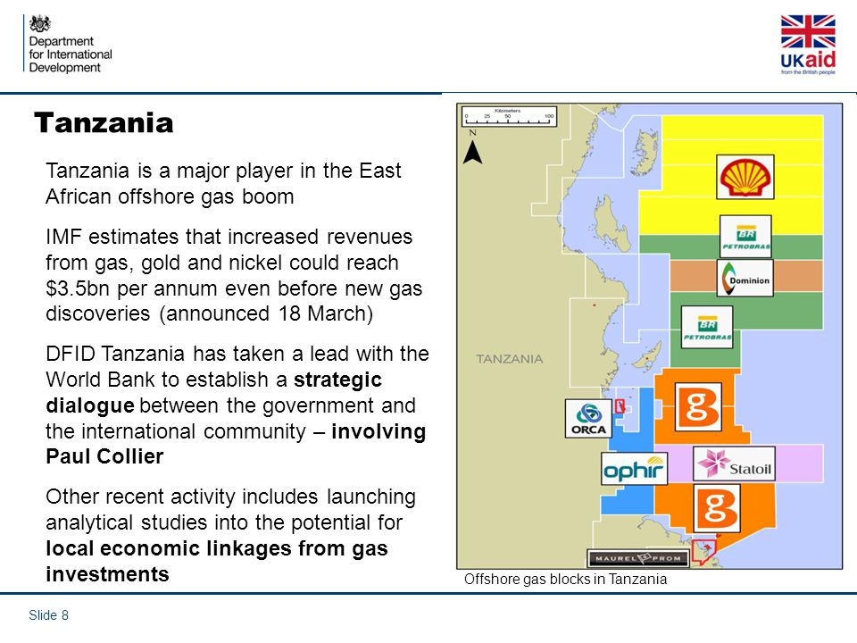 Tanzania Tanzania is a major player in the East African offshore gas boom.