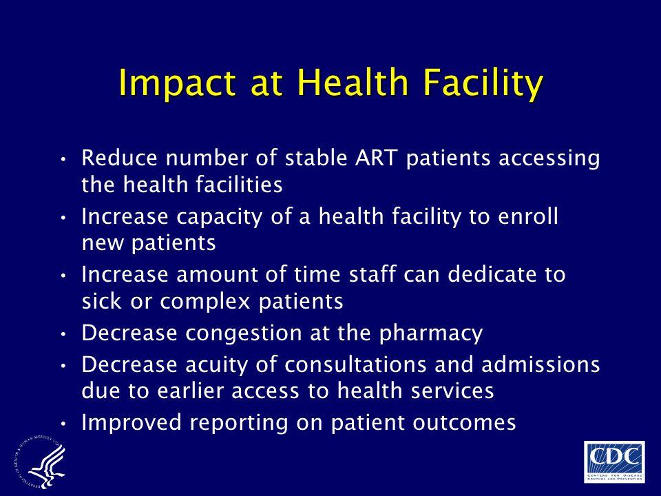 Impact at Health Facility