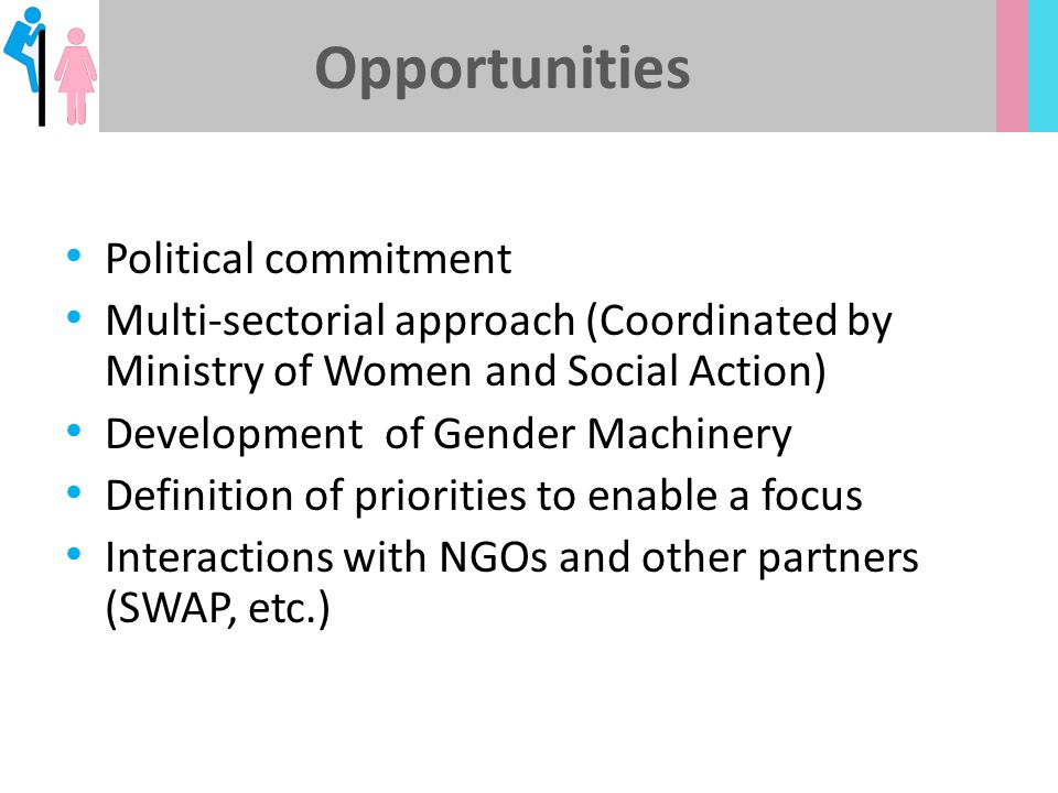 Opportunities Political commitment