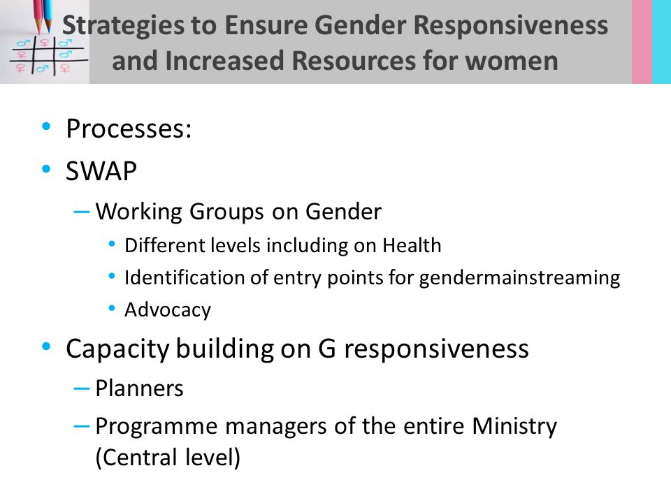 Capacity building on G responsiveness