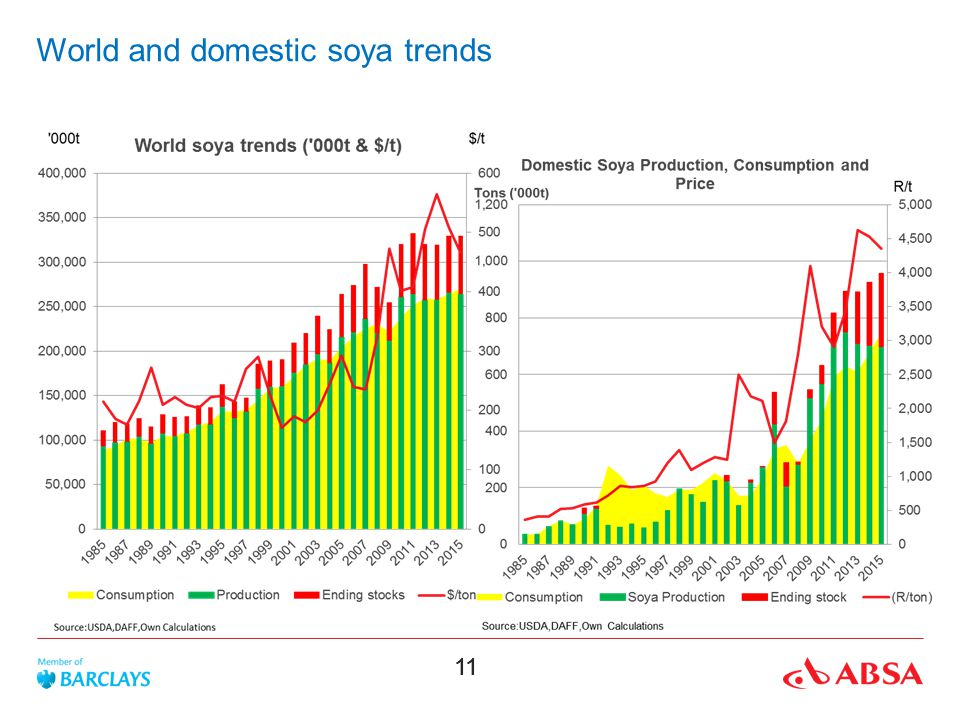 World and domestic soya trends