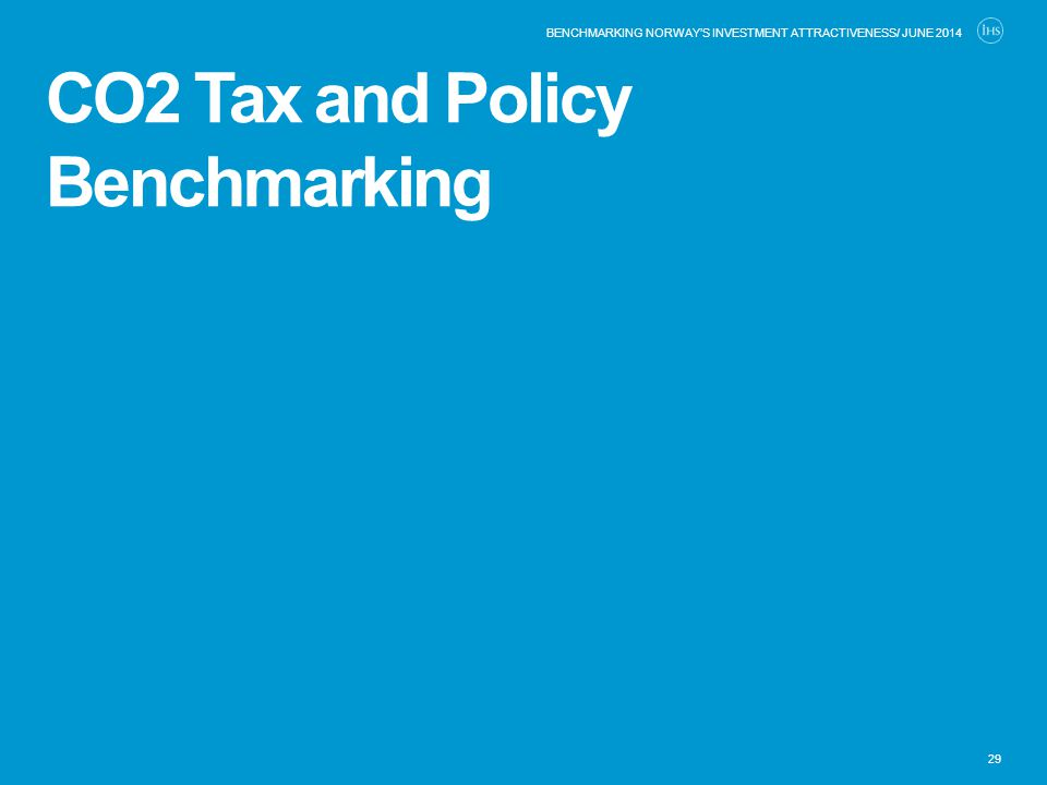 CO2 Tax and Policy Benchmarking