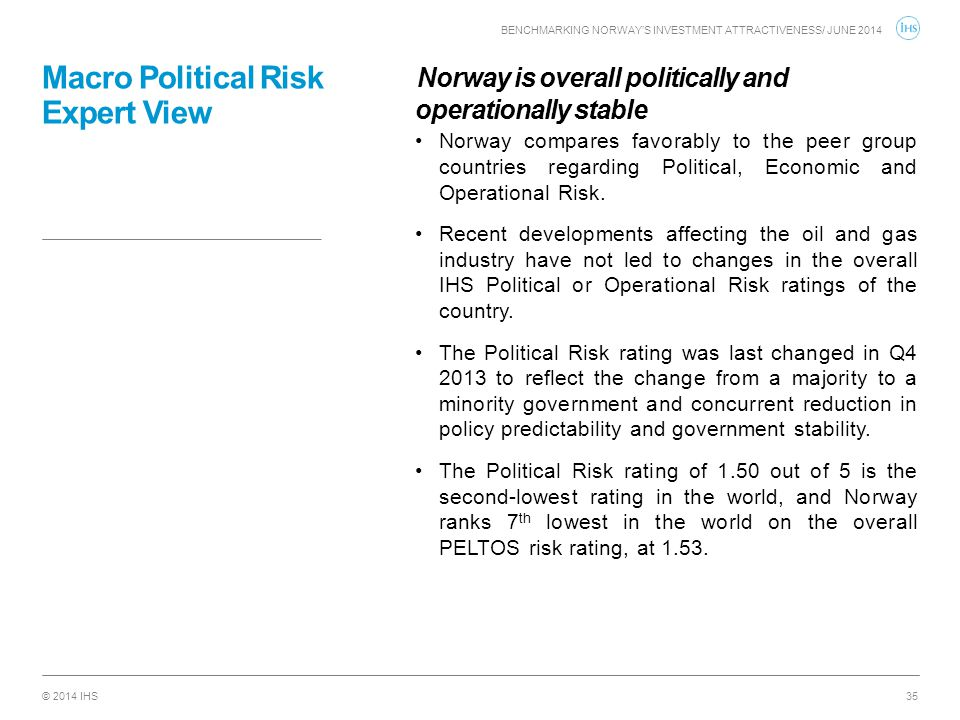 Macro Political Risk Expert View