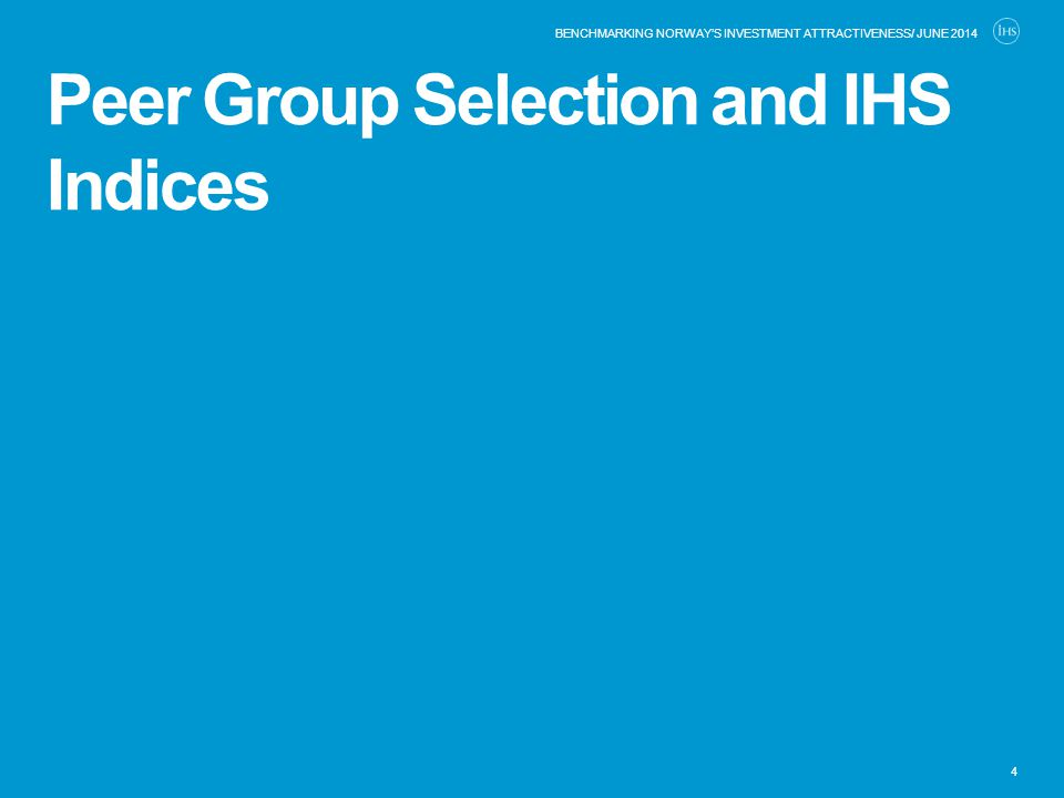 Peer Group Selection and IHS Indices