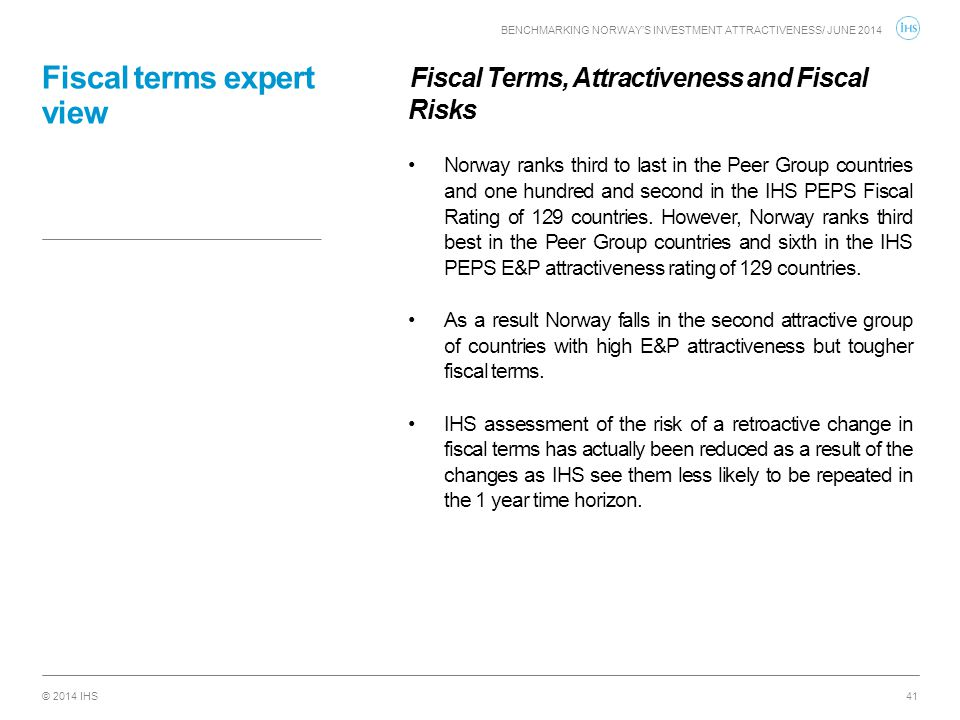 Fiscal terms expert view