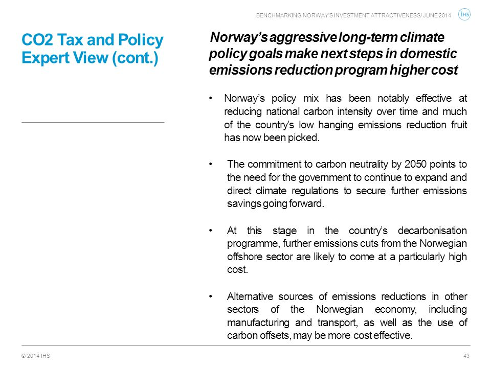 CO2 Tax and Policy Expert View (cont.)
