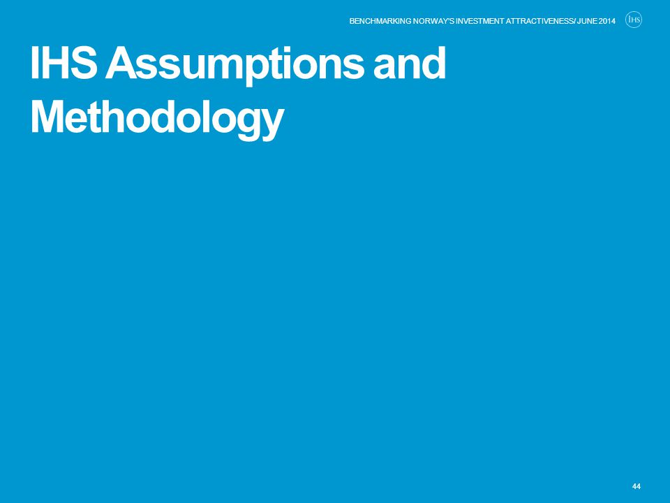 IHS Assumptions and Methodology