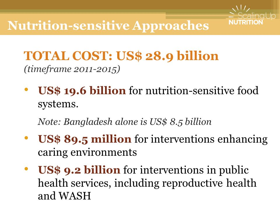 Nutrition-sensitive Approaches