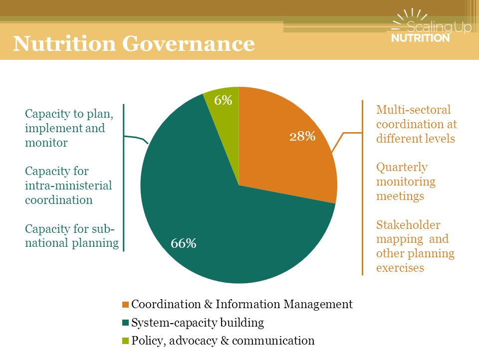 Nutrition Governance Multi-sectoral coordination at different levels