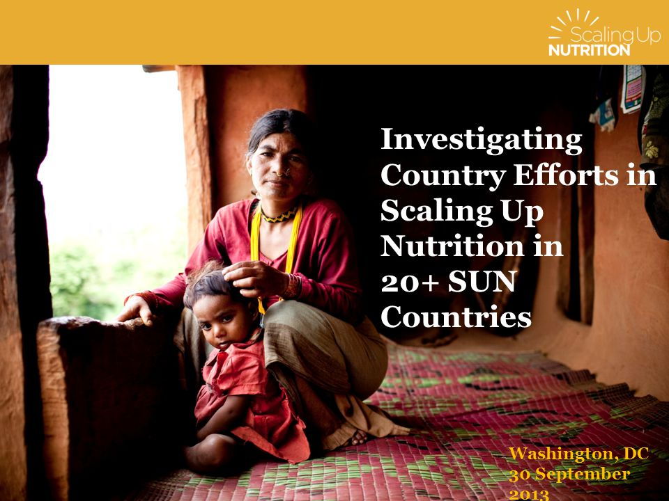 Investigating Country Efforts in Scaling Up Nutrition in 20+ SUN Countries