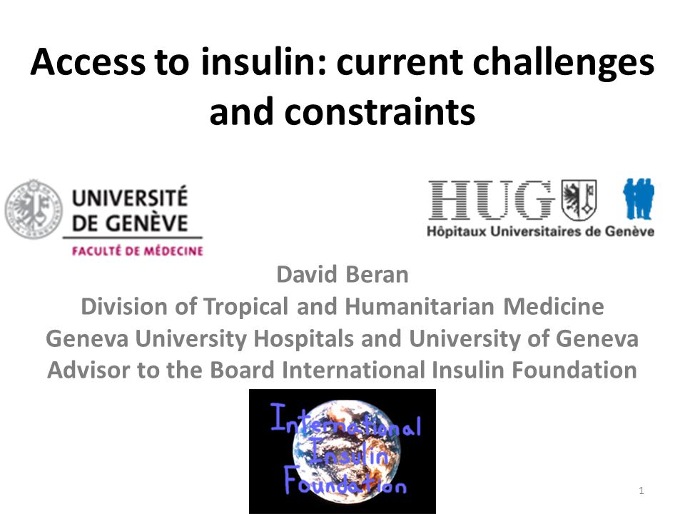Access to insulin: current challenges and constraints