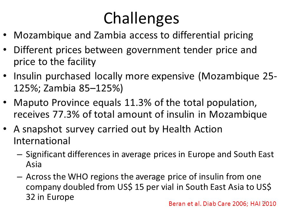 Challenges Mozambique and Zambia access to differential pricing