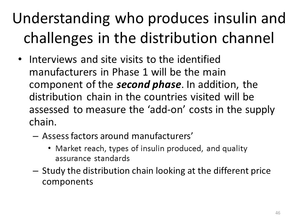 Understanding who produces insulin and challenges in the distribution channel