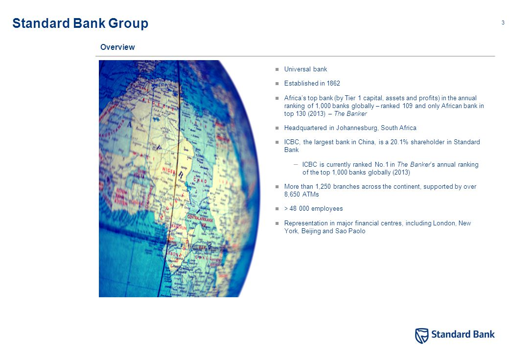 Standard Bank footprint in Africa