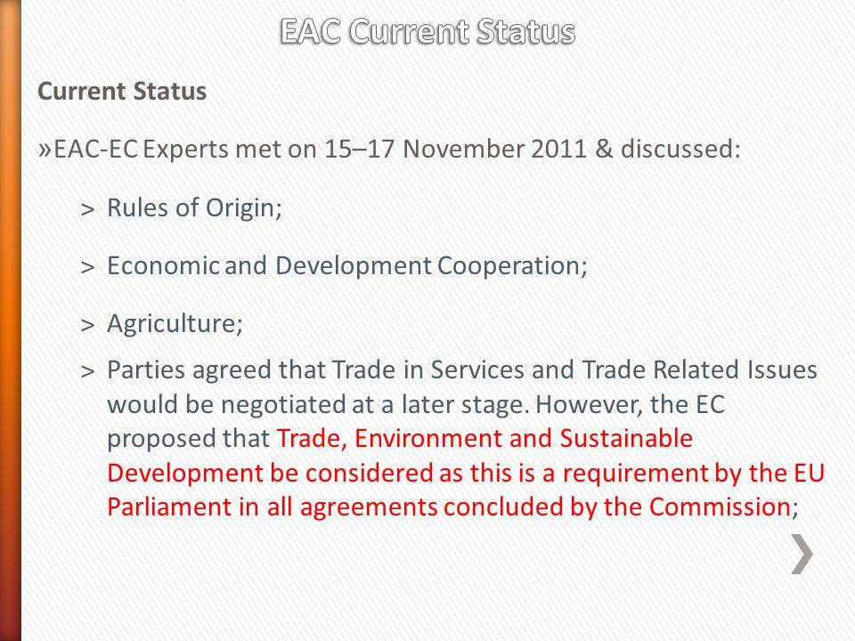EAC Current Status Current Status