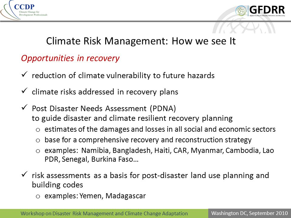 Climate Risk Management: How we see It