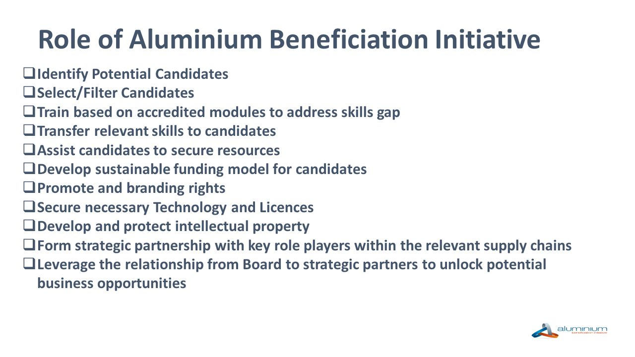 Role of Aluminium Beneficiation Initiative