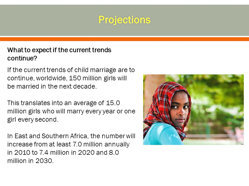 Projections What to expect if the current trends continue