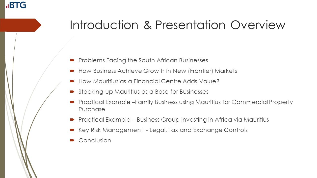 Introduction & Presentation Overview