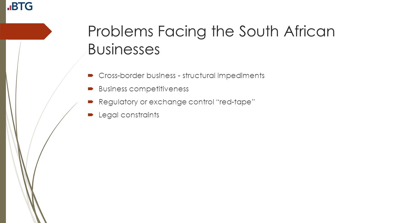 Problems Facing the South African Businesses