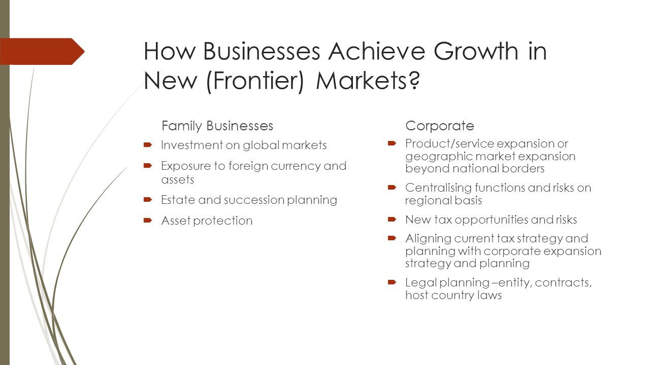 How Businesses Achieve Growth in New (Frontier) Markets