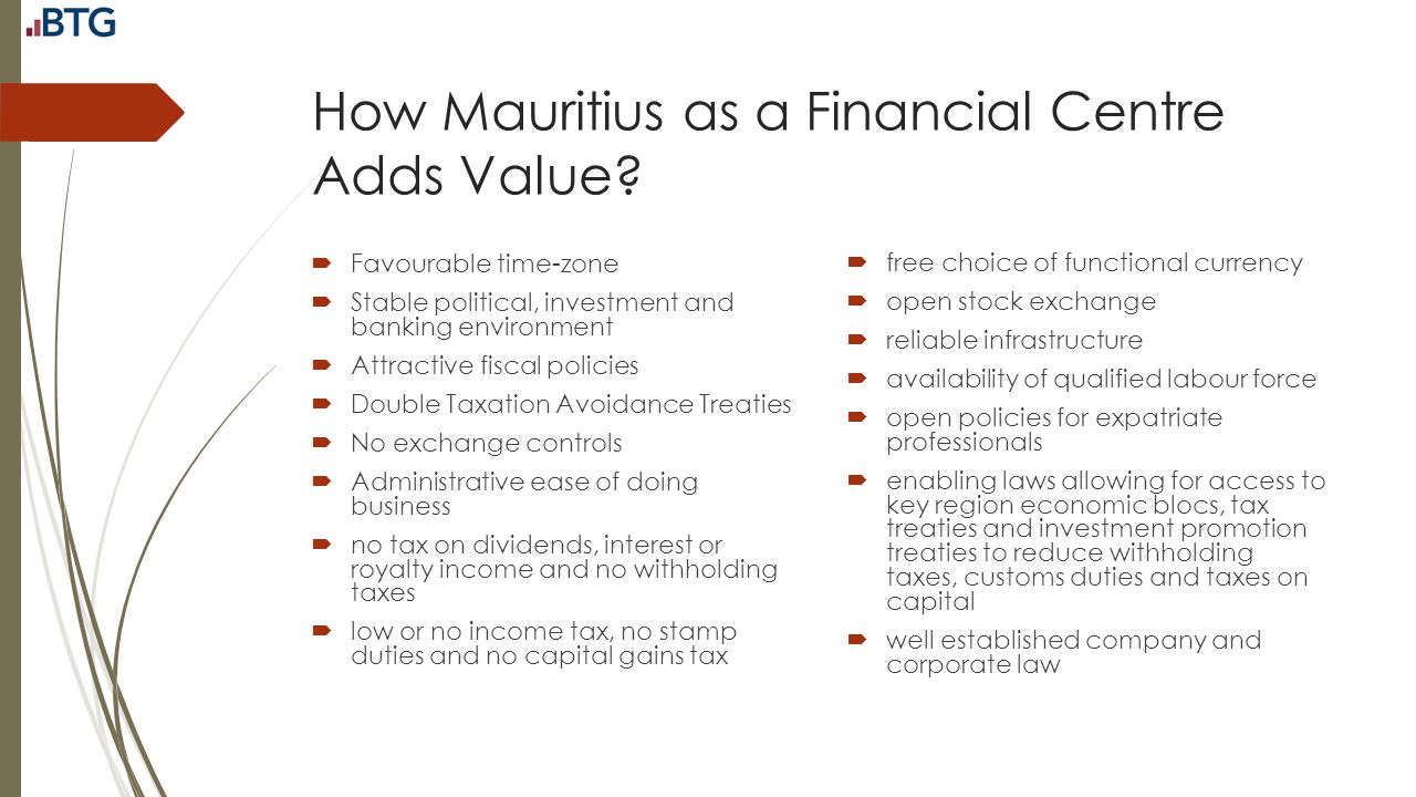 How Mauritius as a Financial Centre Adds Value