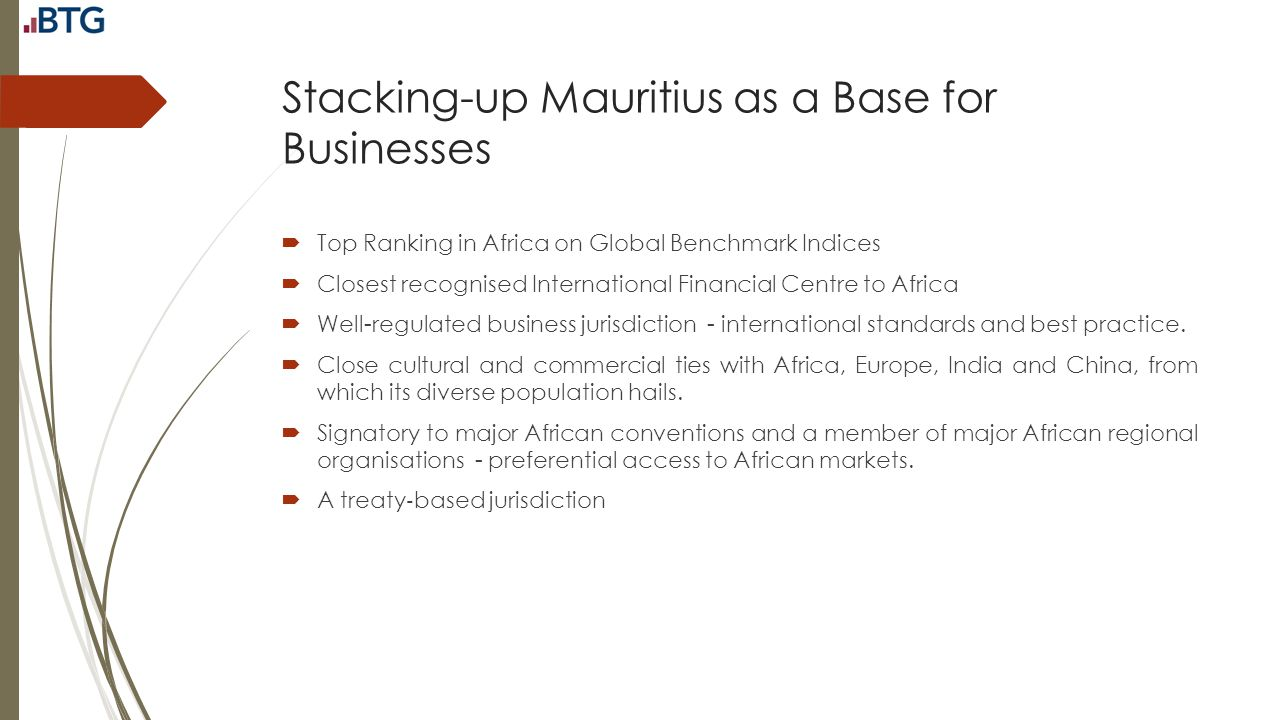 Stacking-up Mauritius as a Base for Businesses