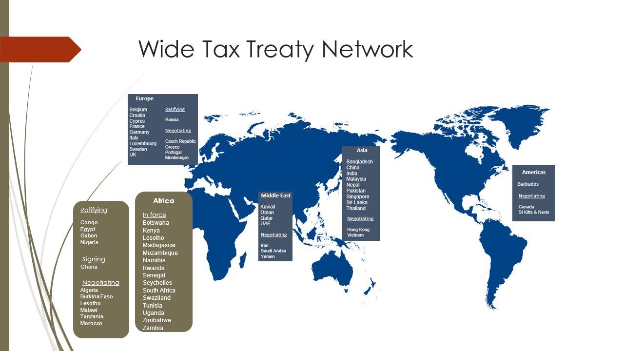 Wide Tax Treaty Network