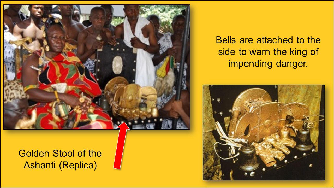 Bells are attached to the side to warn the king of impending danger.