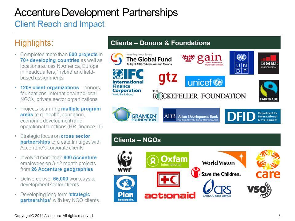 Accenture Development Partnerships Client Reach and Impact