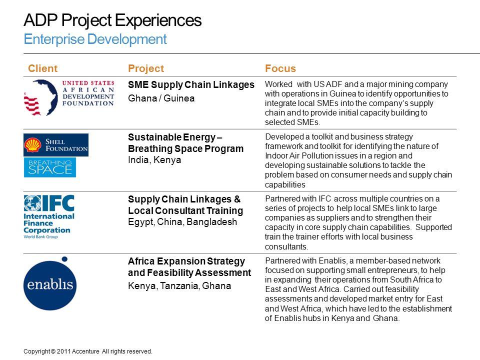 ADP Project Experiences Enterprise Development