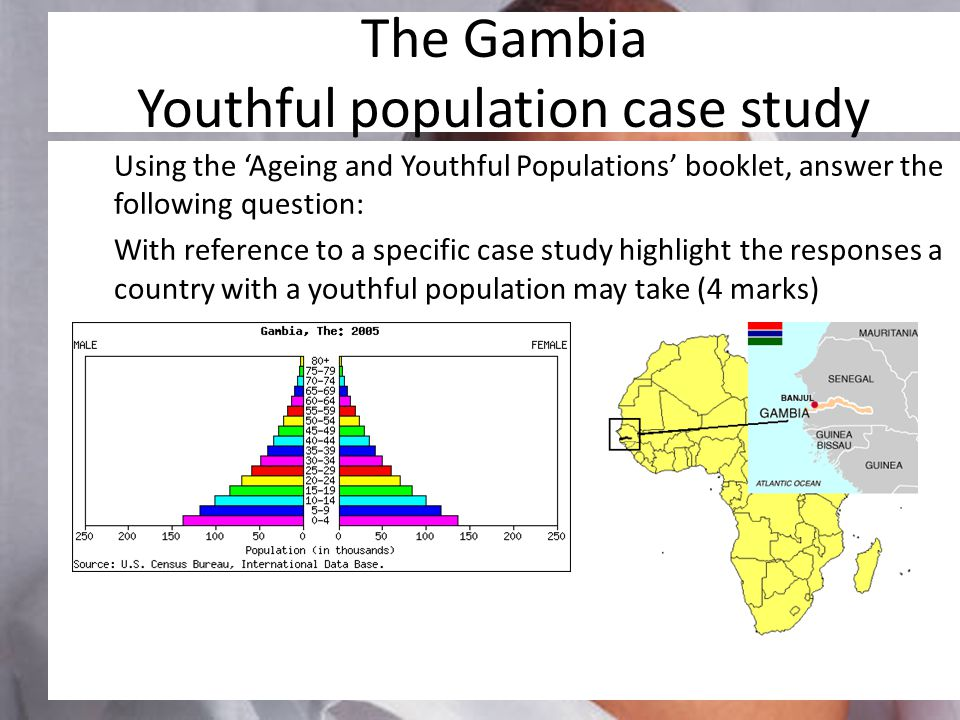 The Gambia Youthful population case study