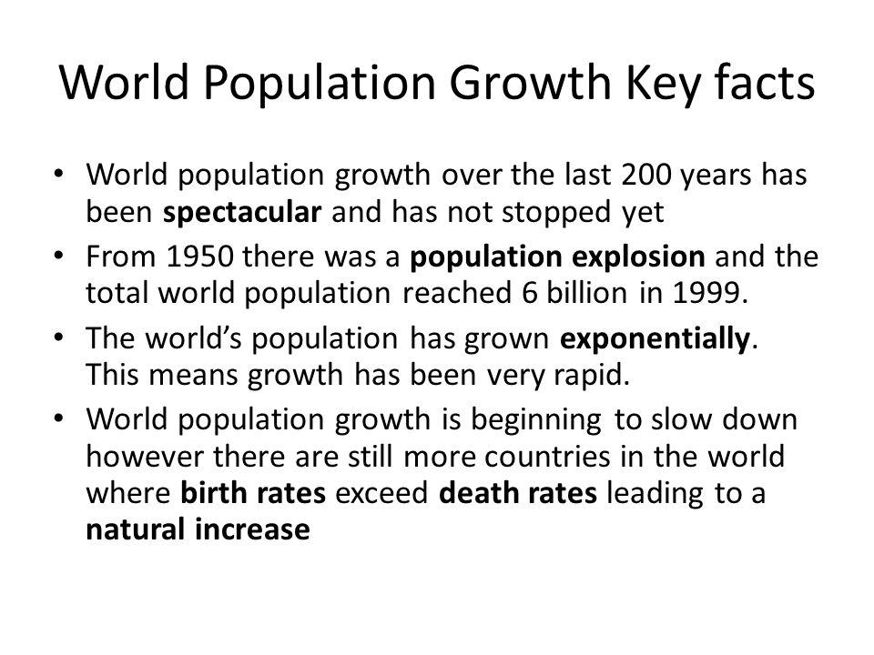 World Population Growth Key facts