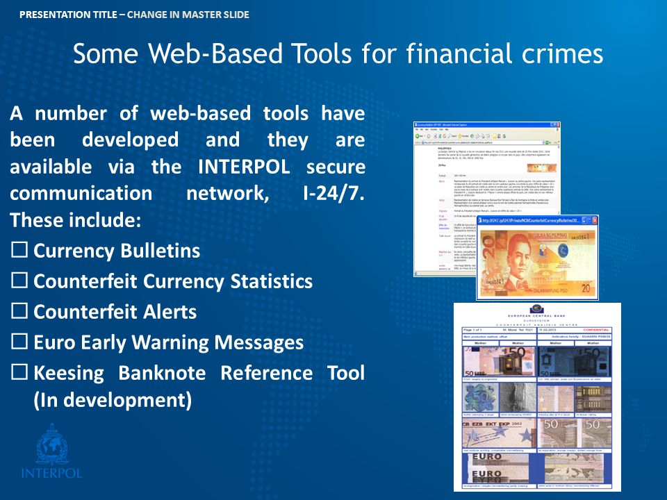 Some Web-Based Tools for financial crimes