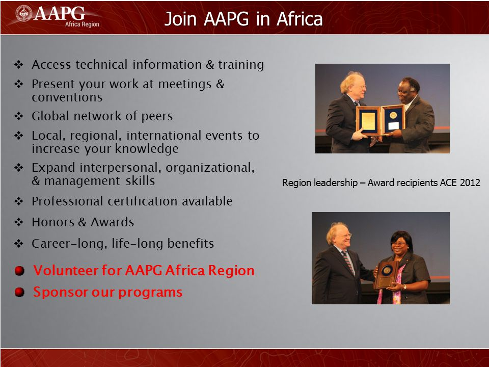 Join AAPG in Africa Volunteer for AAPG Africa Region