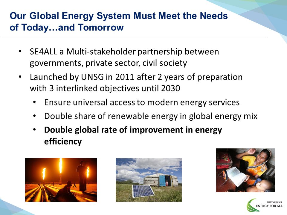 Our Global Energy System Must Meet the Needs of Today…and Tomorrow