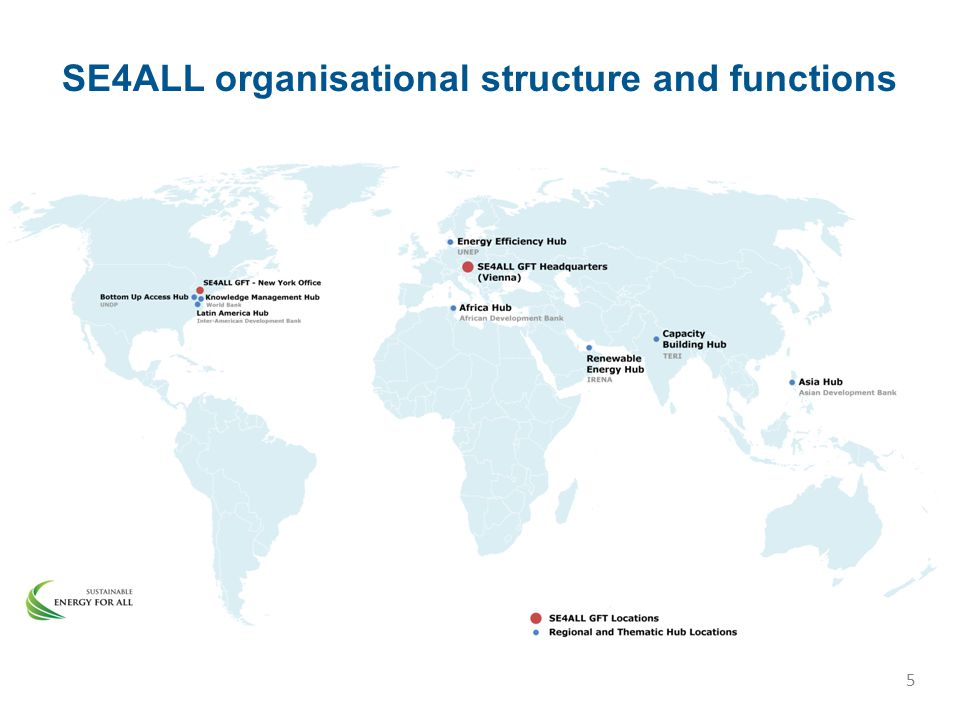 SE4ALL organisational structure and functions