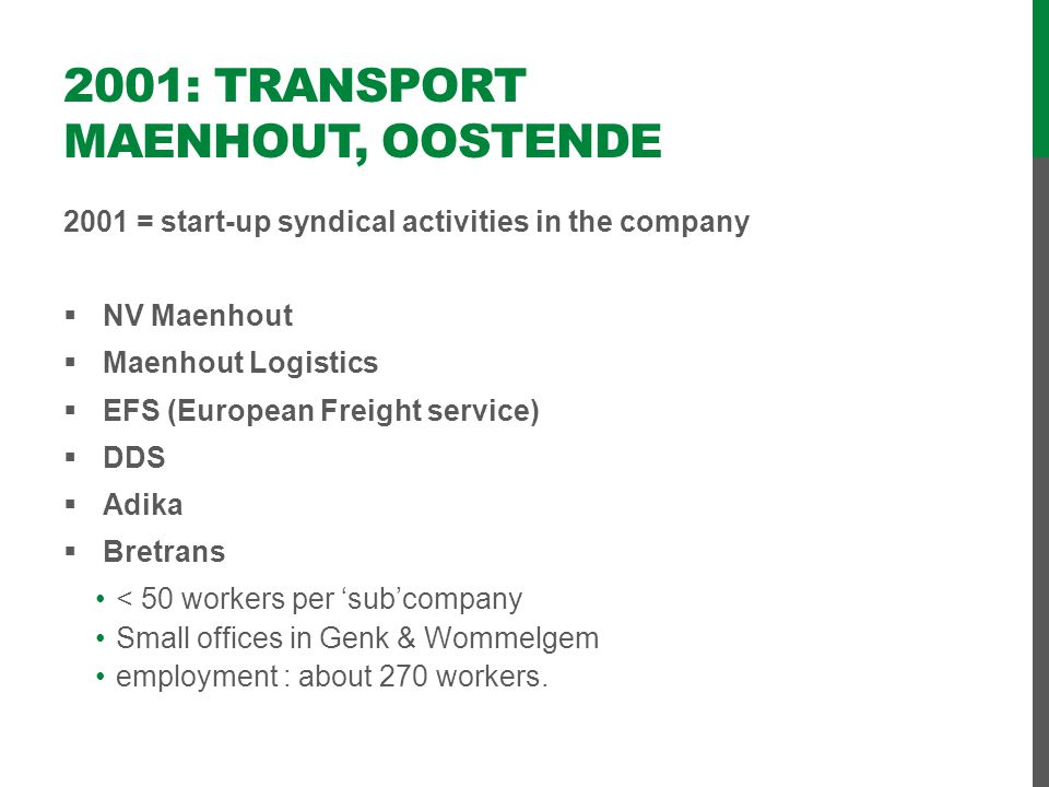 2001: Transport Maenhout, Oostende
