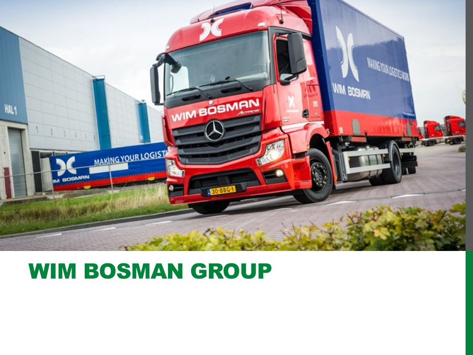 Nowadays the Wim Bosman Group is a firmly European based transport and logistics provider.