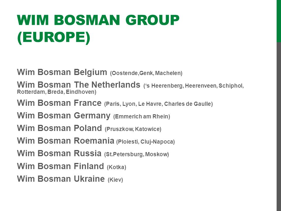 Wim Bosman Group (Europe)