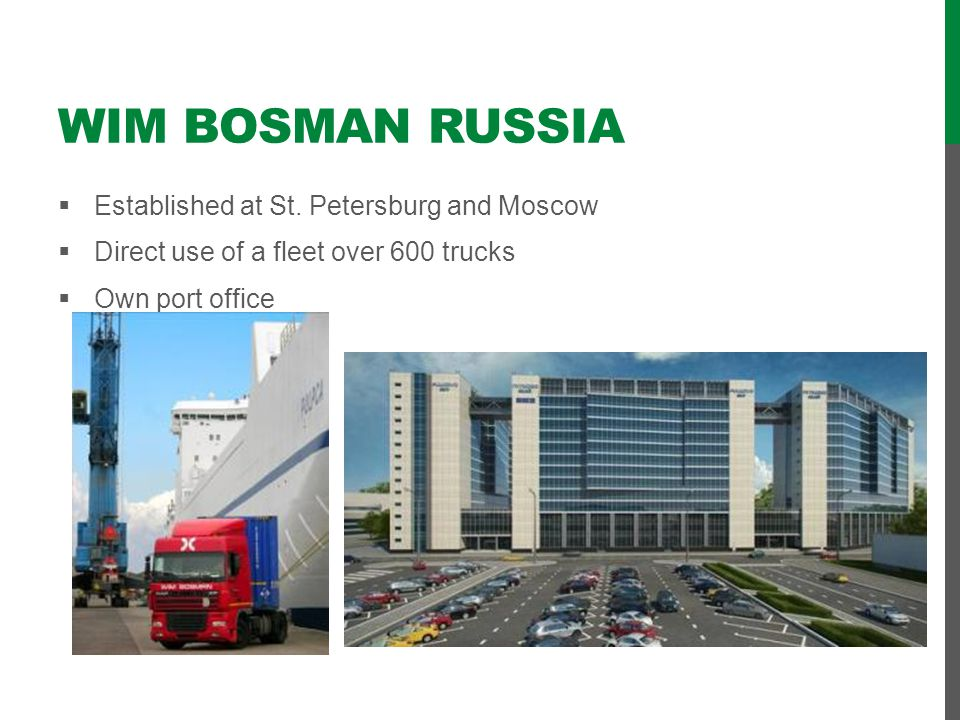 Wim Bosman Russia Established at St. Petersburg and Moscow