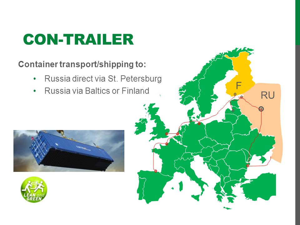 CON-trailer F RU Container transport/shipping to: