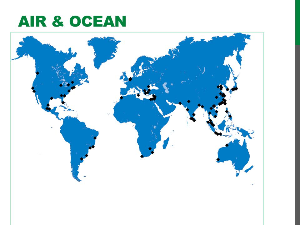 Air & Ocean Freight Shipping through ports worldwide…
