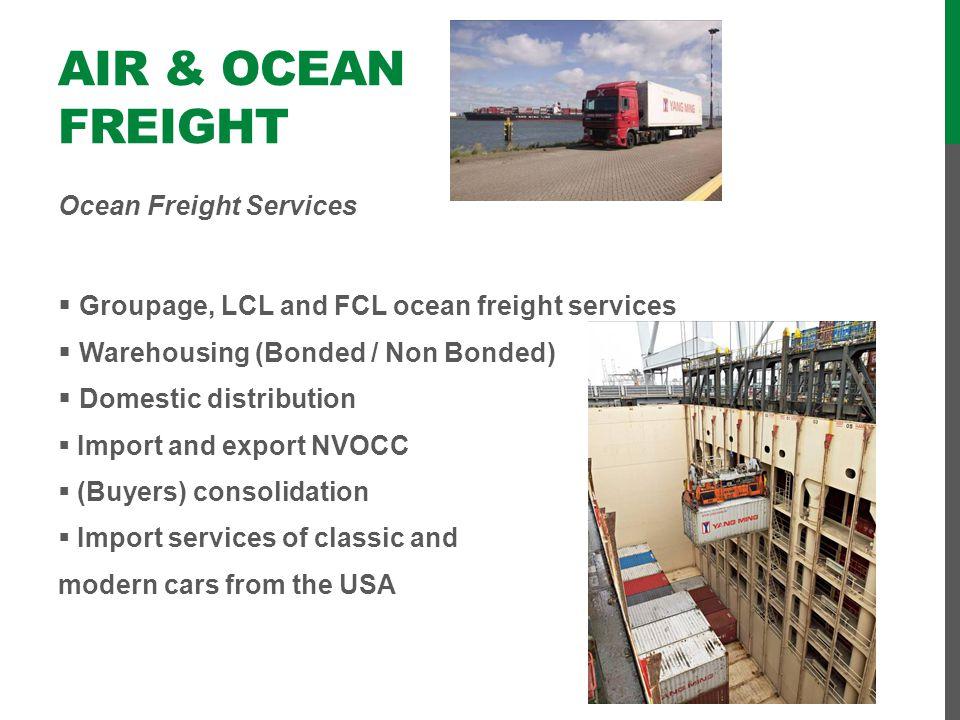 Air & Ocean Freight Ocean Freight Services