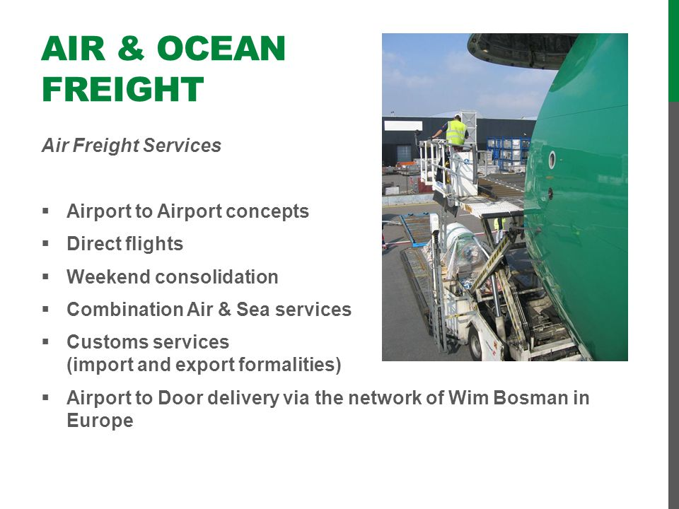 Air & Ocean Freight Air Freight Services Airport to Airport concepts